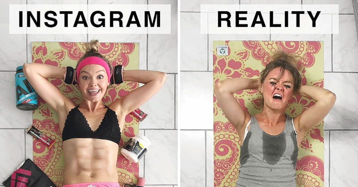 """20+ Hilarious """"Instagram Vs Reality"""" Photos Put Together By German Artist"""
