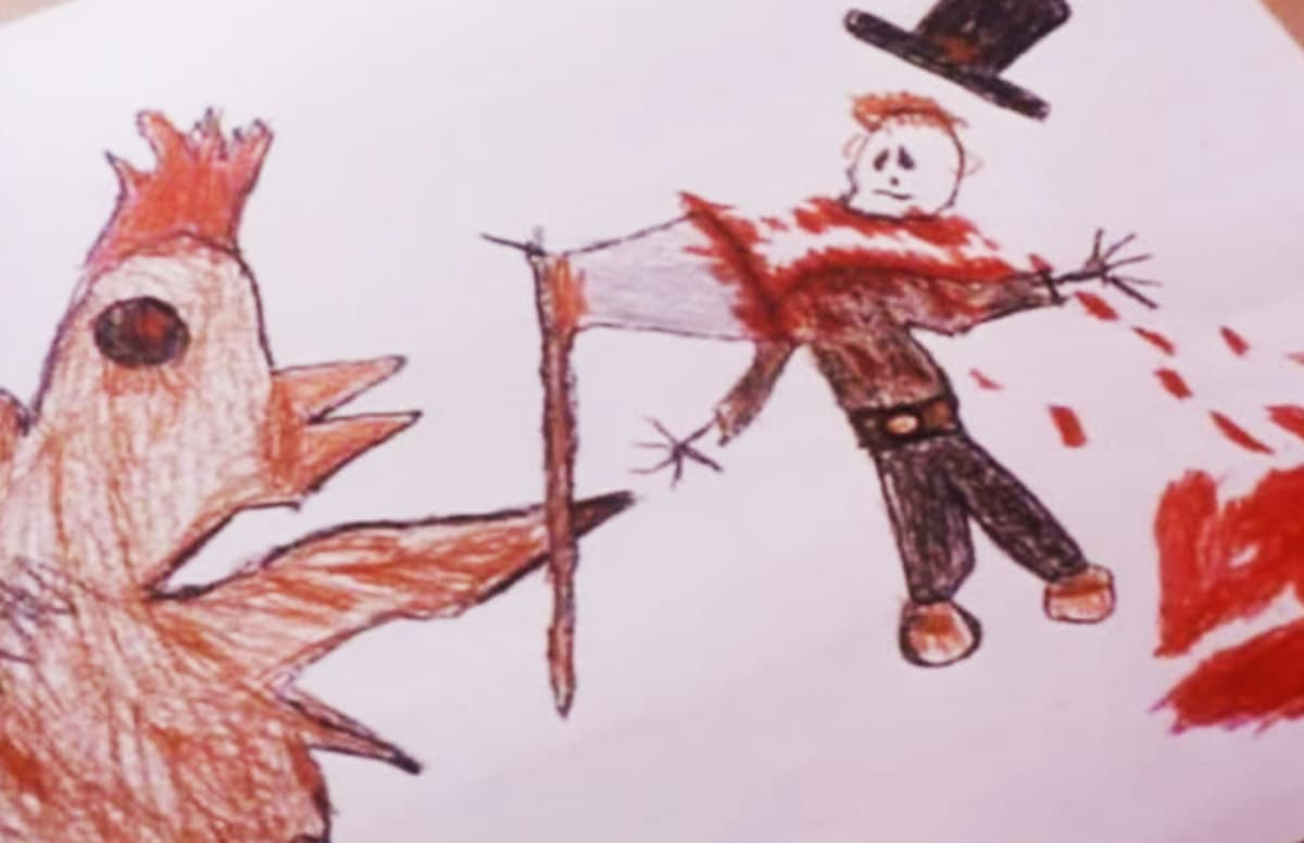 24 Of The Creepiest Kids Drawings Ever