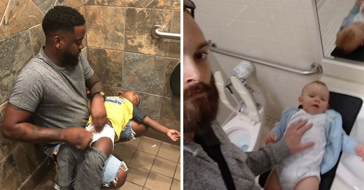 Struggling Dad Starts Campaign For Frustrated Fathers Wanting Baby Changing Stations In Men's Toilets