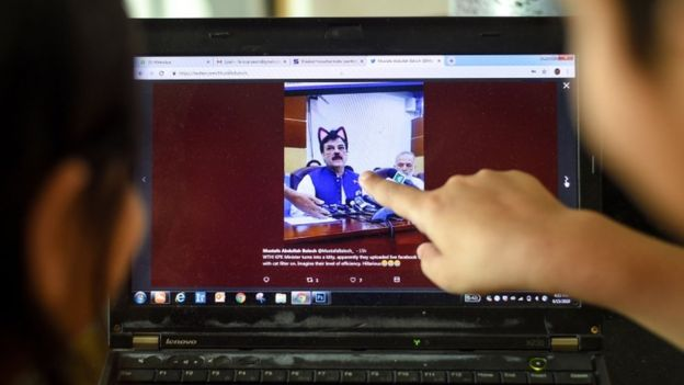 Pakistani Government Officials Accidentally Turn On Cat Filter During Facebook Live