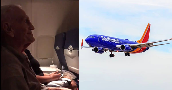 The Sweet Moment Airline Attendants Sang Happy Birthday To A World War II Veteran