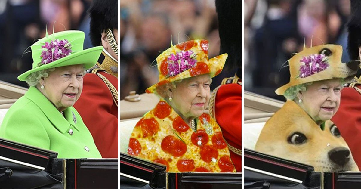 The Queen Wore A Green Birthday Dress So The Internet Used Her As A Green Screen Of Wonder