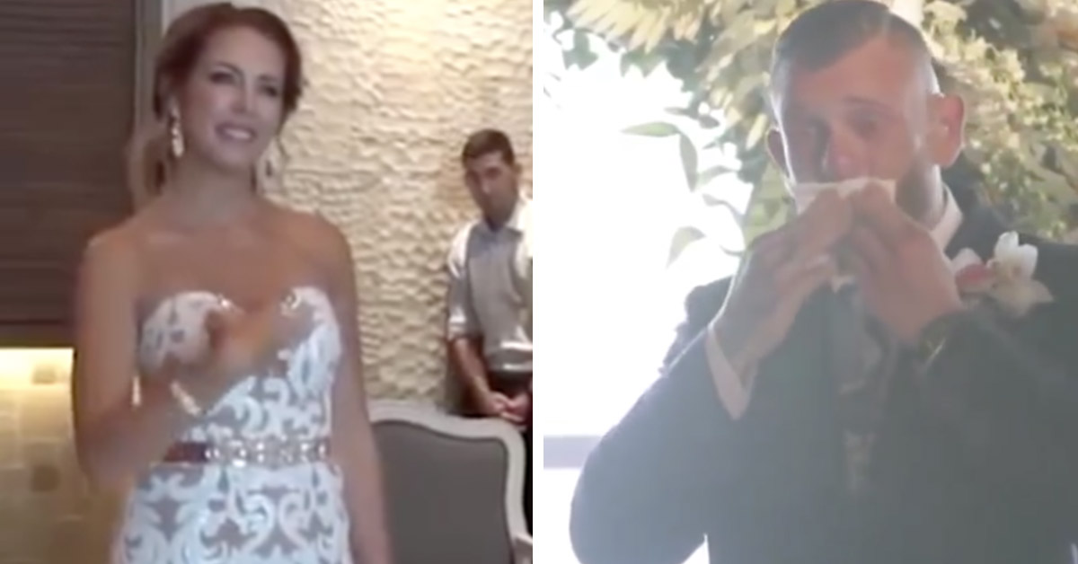 Bride Surprises Deaf Groom By Signing A Love Song To Him While Walking Down The Aisle