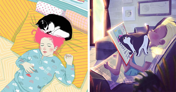 Italian Illustrator Shows Just How Adorable Cats Can Be