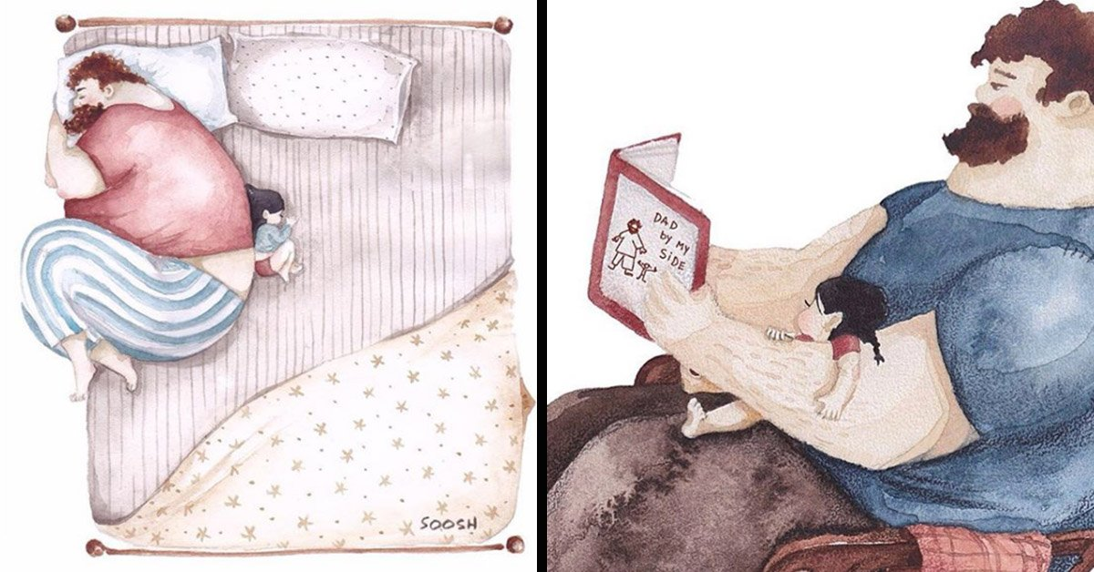 This Artist's Charming Paintings Perfectly Depict The Special Bond Between Daddy And Daughter