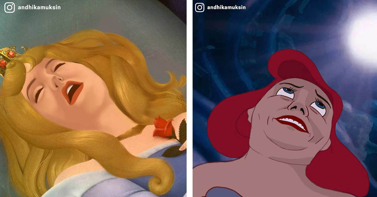 Artist Decides To Show The World How Disney Princesses Would REALLY Look