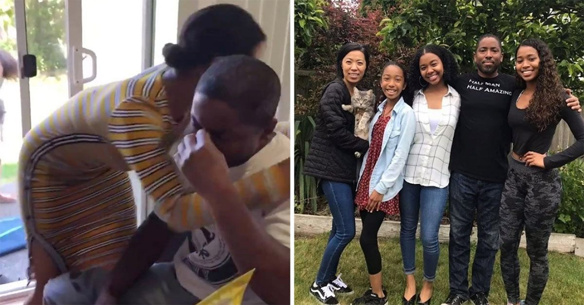 Sisters Surprise Stepdad With The Best Father's Day Present Ever By Taking His Last Name