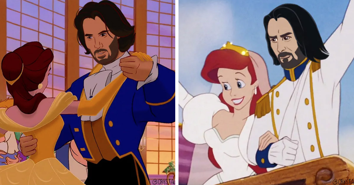 Artist Turns Keanu Reeves Into Disney Princes & All Of Our Dreams Have Come True