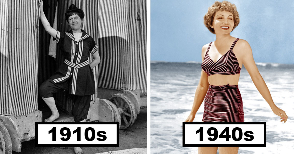 From Corsets To 'Kinis – Marvel At The Insanely Stylish 100 Year Evolution Of Swimsuits