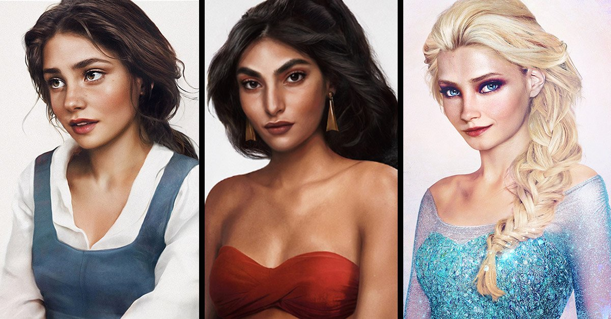 These Beautiful, Hyper-Realistic Disney Princesses Will Help You Decide Who You Look Most Like