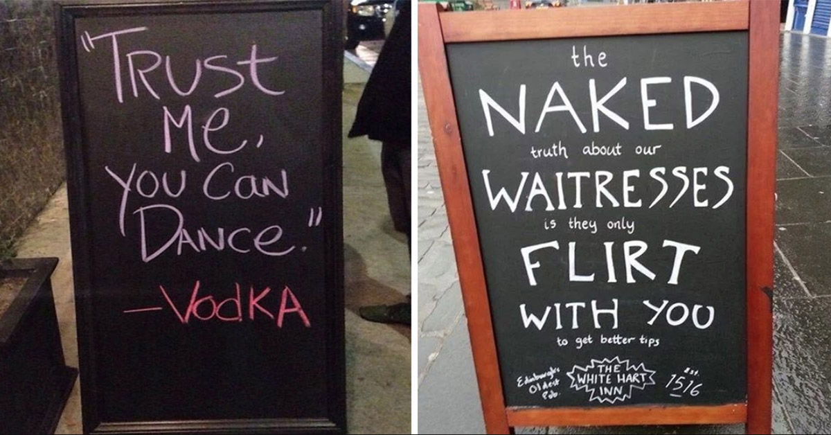 20 Hilarious Bar Signs That Have Completely Won The Advertising Game